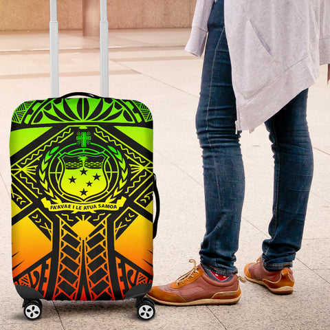 Image of Samoa Polynesian Luggage Covers - Samoa Reggae Seal with Polynesian Tattoo - BN18