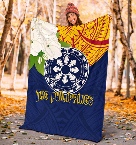 The Philippines Premium Blanket - Filipino  Sampaguita