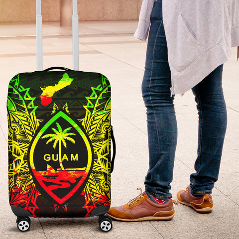 Guam Polynesian Luggage Covers Map Reggae - BN39