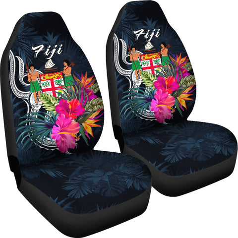 Fiji Polynesian Car Seat Covers - Tropical Flower - BN12