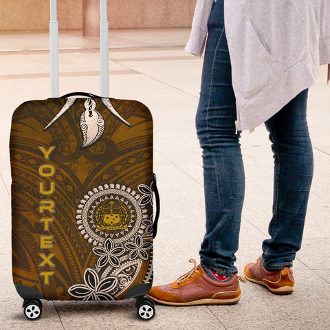 Image of Samoa Custom Personalised Luggage Covers - Polynesian Boar Tusk - BN39