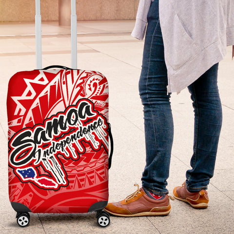 Image of Samoa Polynesian Luggage Covers - Independence Day Red Version - BN12