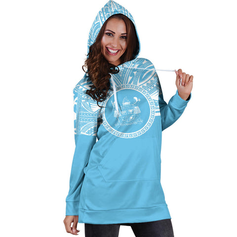 Fiji Women Hoodie Dress - Fiji Coat Of Arms Polynesian Flag Color Bn10