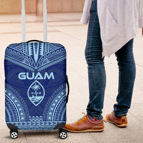 Guam Flag Polynesian Chief Luggage Cover - Bn10