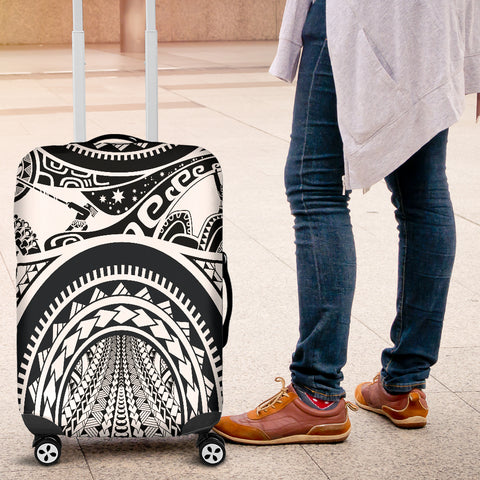 Image of Polynesian Luggage Covers - Maui Tattoo (White) - BN17
