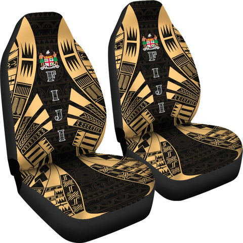 Fiji Car Seat Covers - Polynesian Tattoo Gold - BN09