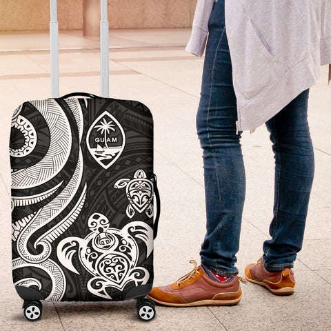 Guam Polynesian Luggage Covers - White Tentacle Turtle - BN11