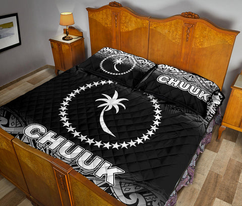 Image of Chuuk Quilt Bed Set - Black Fog Style - BN12
