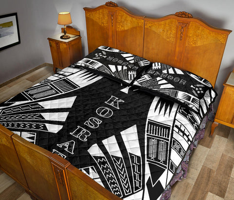 Image of Kosrae Quilt Bed Set - Black Tattoo Style - BN0112