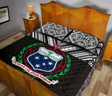 Image of Samoa Quilt Bed Set -Polynesian Black Version - BN0912