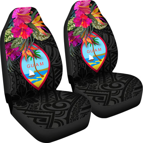 Image of Guam Car Seat Covers - Hibiscus Polynesian Pattern - BN39