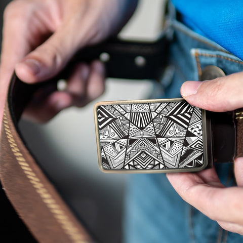 Image of Polynesian Belt Buckle - Poly 17