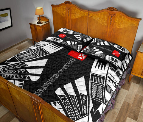 Wallis and Futuna Quilt Bed Set - Black Tattoo Style - BN0112