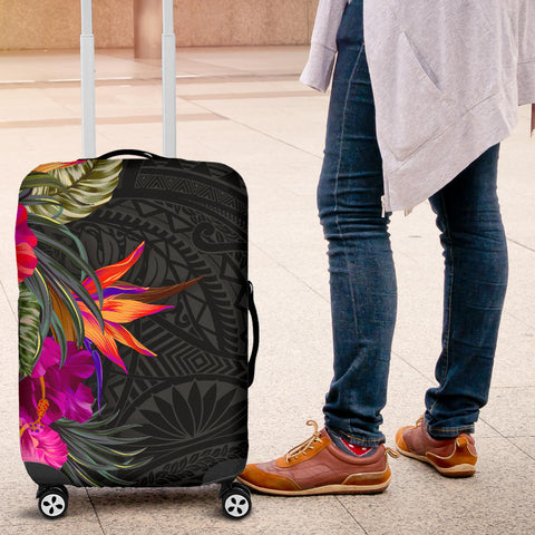 Image of Polynesian Luggage Covers - Hibiscus Pattern - BN39