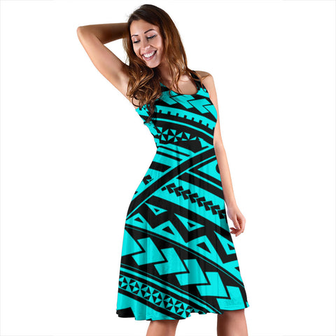 Polynesia Tribal Midi Dress - BN12