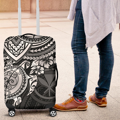 Polynesian Hawaii Luggage Covers - White Turtle - BN1518