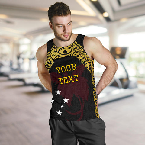Papua New Guinea Custom Personalised Men's Tank Top - Erudite Eye - BN11