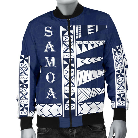 Image of Samoa Polynesian Men's bomber Jacket - BN11