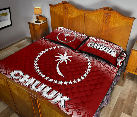 Chuuk Quilt Bed Set - Red Fog Style - BN12