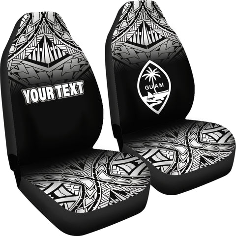 Federated States of Micronesia Car Seat Covers - FSM Seal Polynesian Tattoo Fog Black - BN12