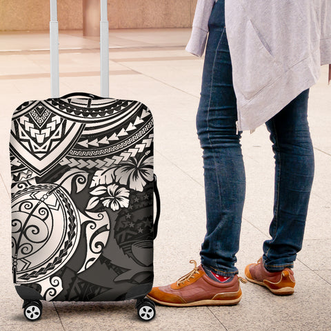 Pohnpei Polynesian Luggage Covers - Polynesian White Turtle