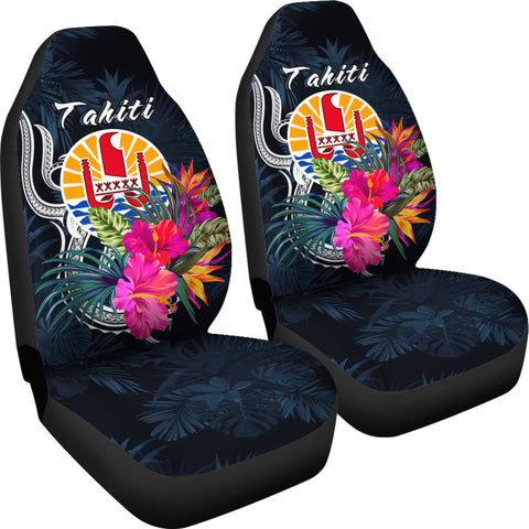 Image of Tahiti Polynesian Car Seat Covers - Tropical Flower - BN12