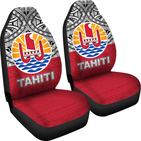 Tahiti Car Seat Covers - Polynesian Design right