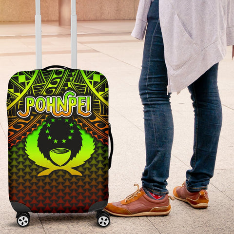 Image of Polynesian Pohnpei Luggage Covers  - Reggae Vintage Polynesian Patterns