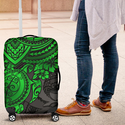 Pohnpei Polynesian Luggage Covers - Polynesian Green Turtle