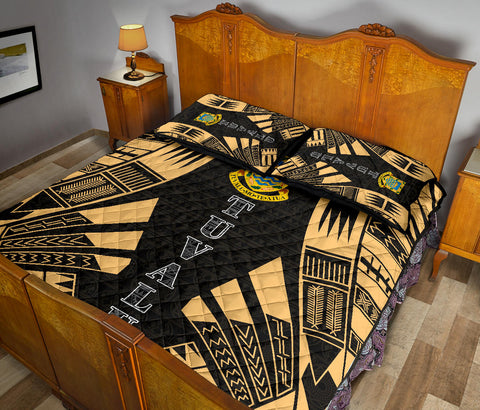 Tuvalu Quilt Bed Set - Yellow Tattoo Style - BN0112