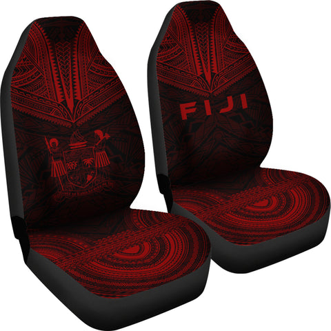 Fiji Polynesian Chief Car Seat Cover - Red Version - Bn10