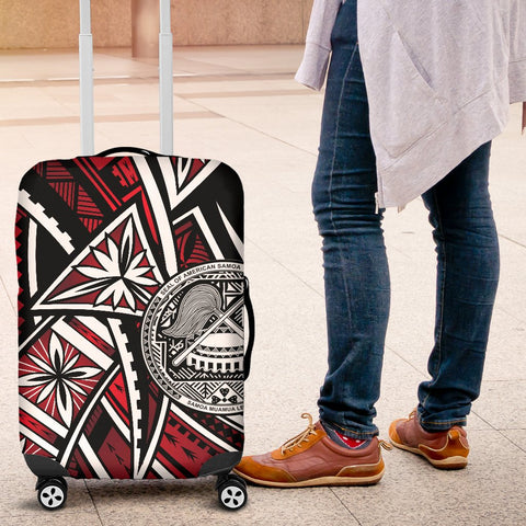 Image of American Samoa Luggage Covers - Tribal Flower Special Pattern Red Color - BN20