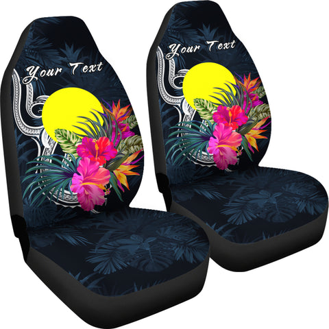 Palau Polynesian Custom Personalised Car Seat Covers - Tropical Flower - BN12