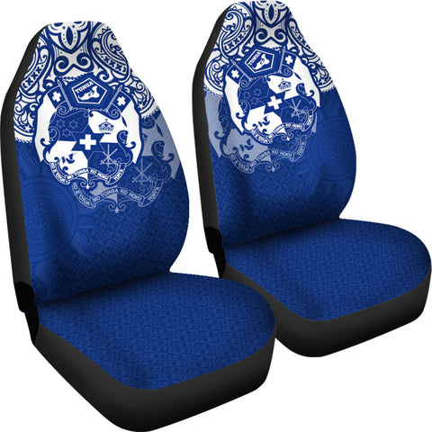 Tonga Polynesian Car Seat Covers  - Tongan Pride (Bright Blue)