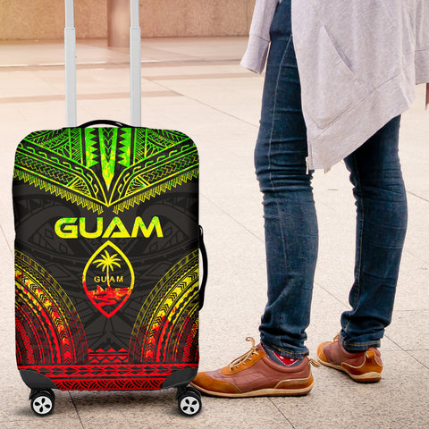 Guam Polynesian Chief Luggage Cover - Reggae Version - Bn10