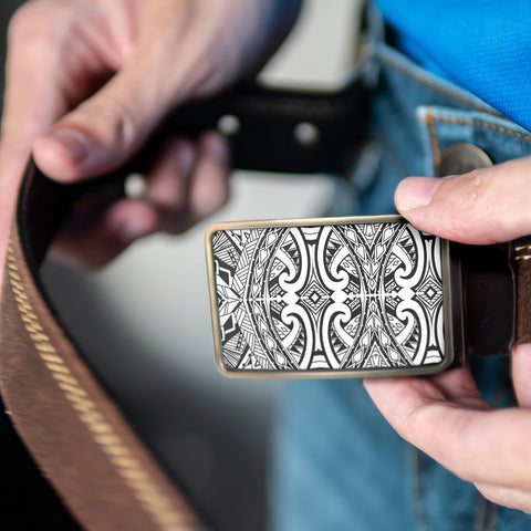 Polynesian Belt Buckle - Poly 18