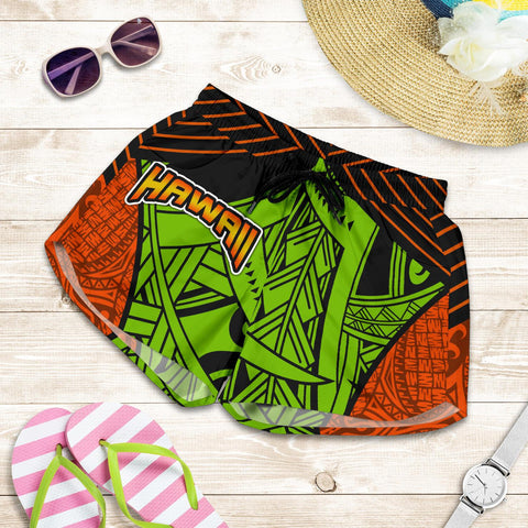 Polynesian Hawaii Women's Shorts - Tribal Wave