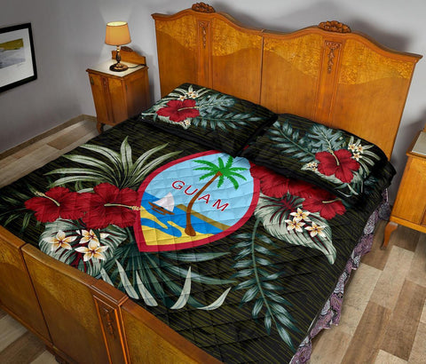 Guam Polynesian Quilt Bed Set - Special Hibiscus A7