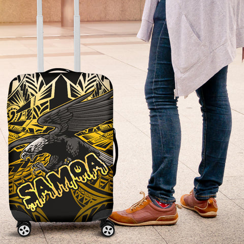 Samoa Polynesian Luggage Covers - Eagle Tribal Pattern Yellow - BN12