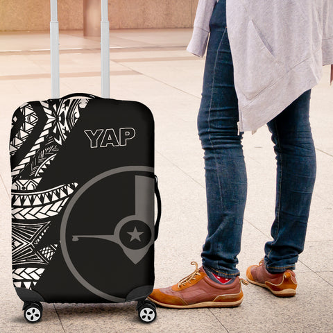Yap Luggage Covers - Micronesian Pattern Flash Black - BN39