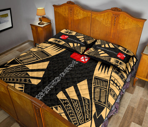 Wallis and Futuna Quilt Bed Set - Yellow Tattoo Style - BN0112