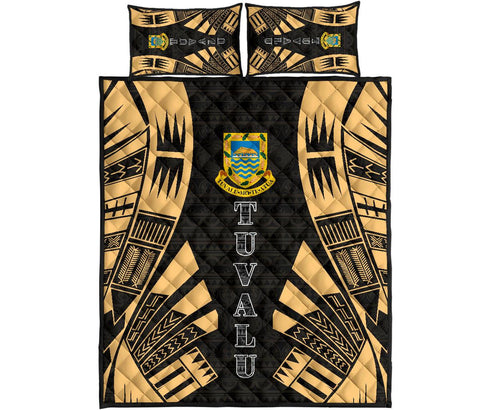 Tuvalu Quilt Bed Set - Yellow Tattoo Style