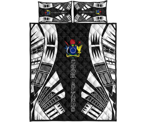 Cook Islands Polynesian Quilt Bed Set - Black Tattoo Style