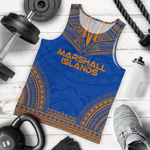 Marshall Islands Men's Tank Top - Polynesian Chief Flag Version - BN10