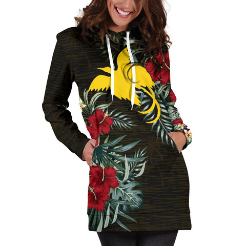 Image of Papua New Guinea Hibiscus Hoodie Dress A7