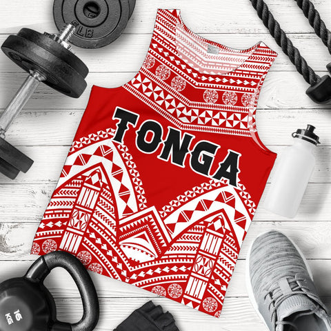 Image of Tonga Polynesian Tribal Pattern Men's Tank Top