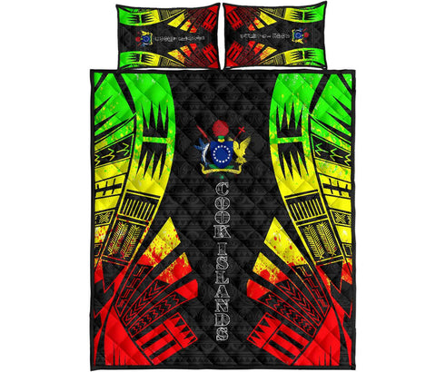 Cook Islands Polynesian Quilt Bed Set - Reggae Tattoo Style