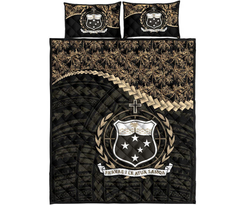 Image of Samoa Polynesian Quilt Bed Set Golden Coconut