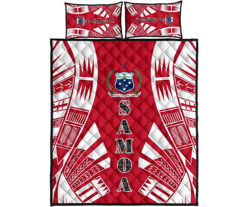 Samoa Quilt Bed Set - Red Tattoo Style