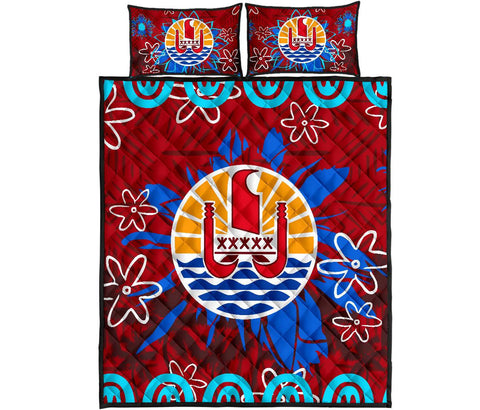 Image of Tahiti Polynesian Quilt Bed Set Set